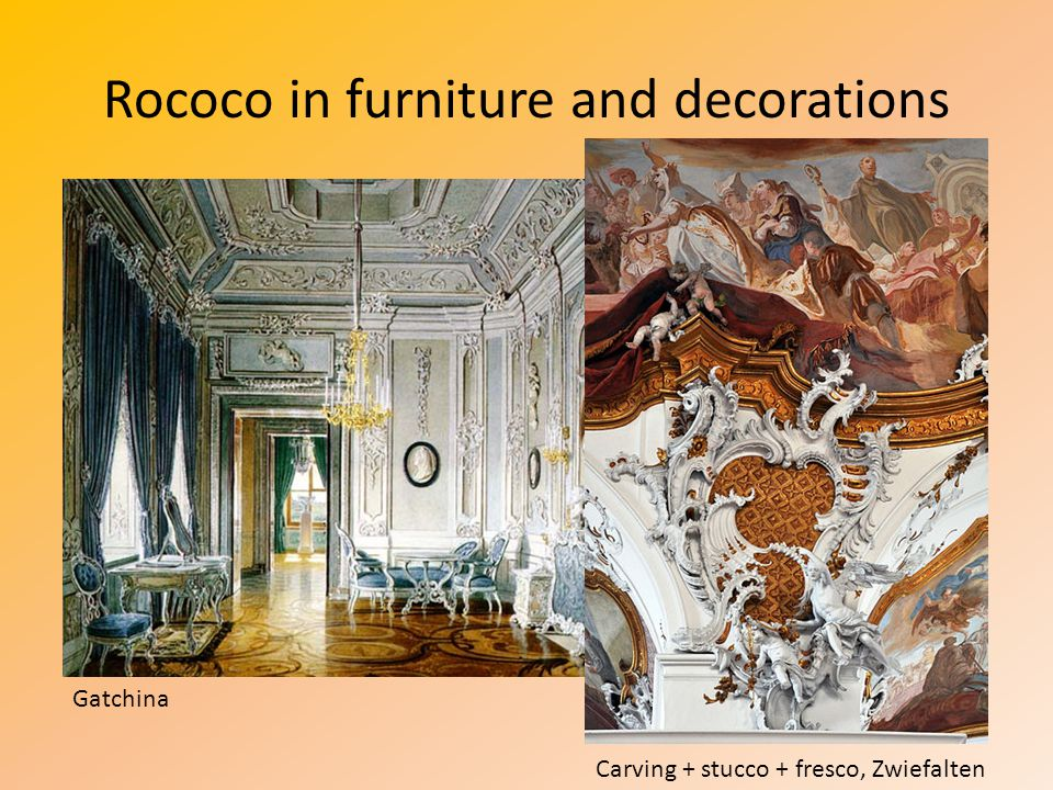 Rococo in furniture and decorations