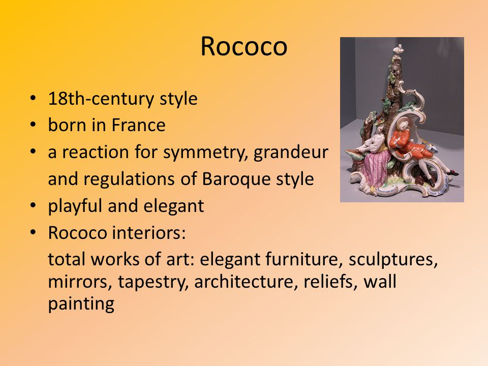Rococo 18th-century style born in France