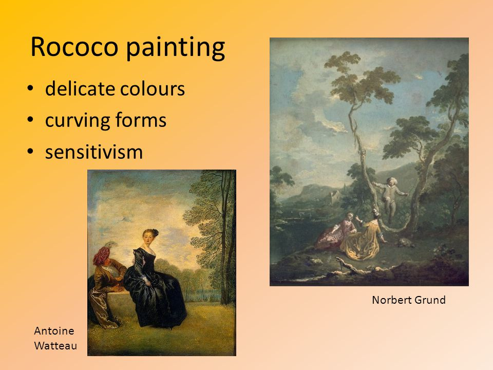 Rococo painting delicate colours curving forms sensitivism