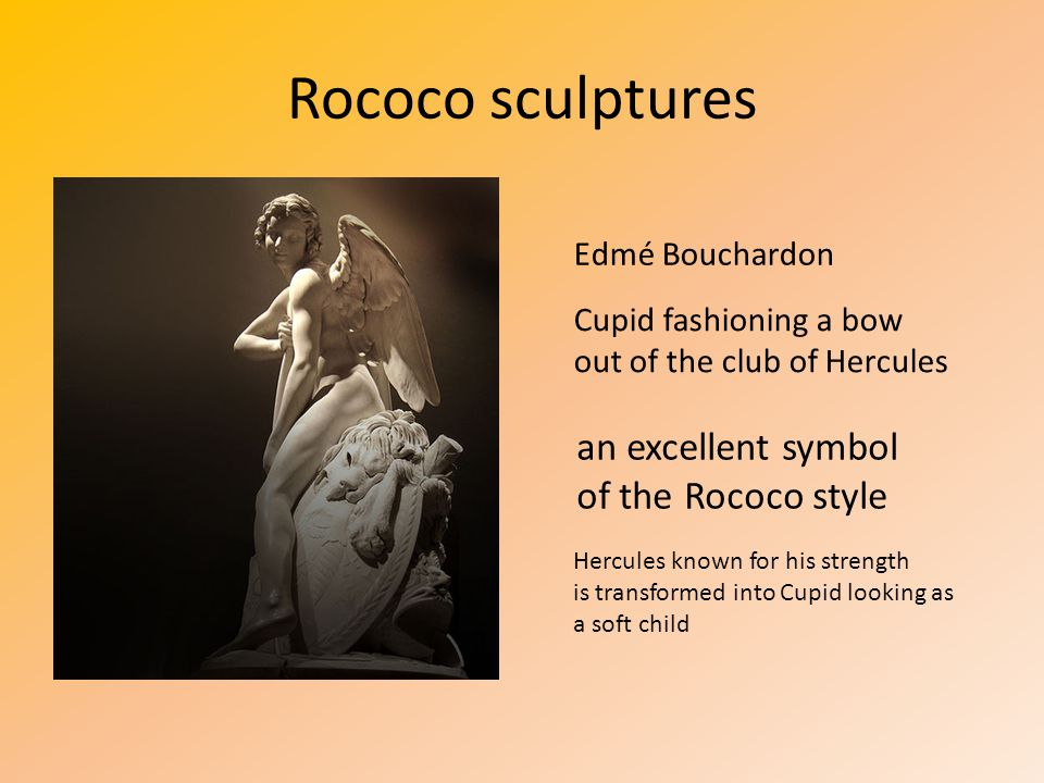 Rococo sculptures an excellent symbol of the Rococo style