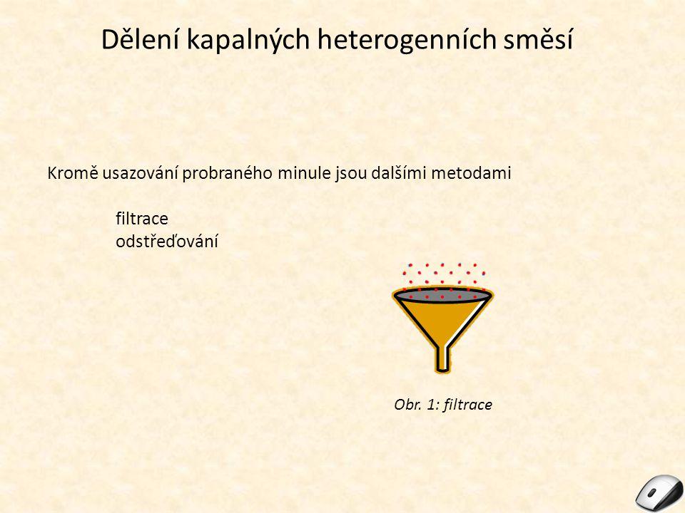 Dělení kapalných heterogenních směsí