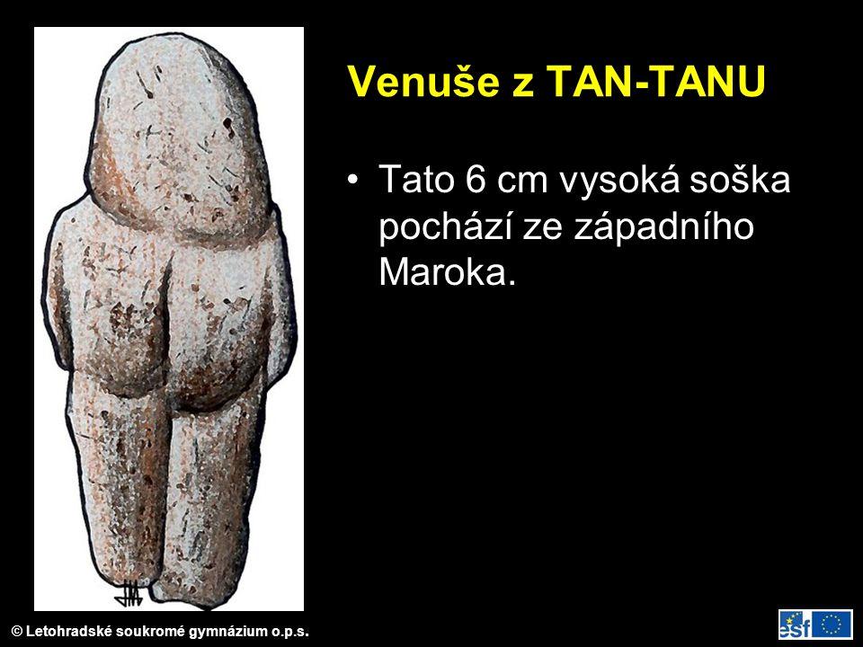 Venuše z TAN-TANU Tato 6 cm vysoká soška pochází ze západního Maroka.