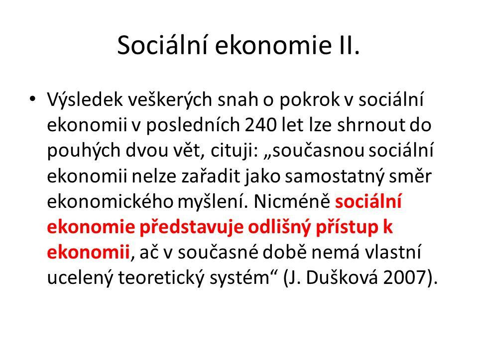 Sociální ekonomie II.
