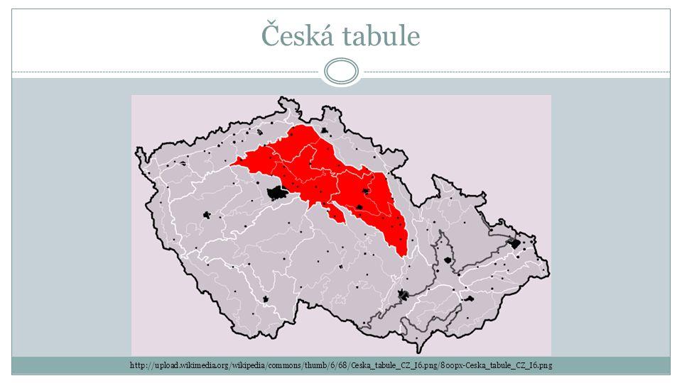 Česká tabule http://upload.wikimedia.org/wikipedia/commons/thumb/6/68/Ceska_tabule_CZ_I6.png/800px-Ceska_tabule_CZ_I6.png.
