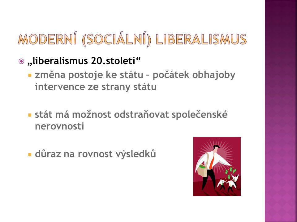 Moderní (sociální) liberalismus