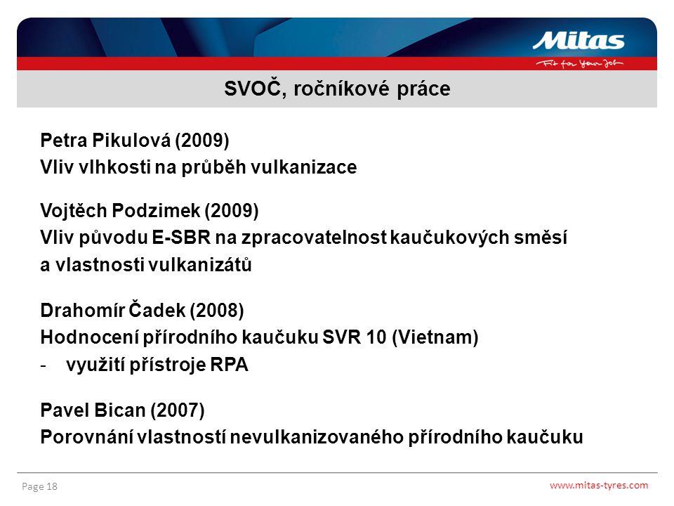 SVOČ, ročníkové práce Petra Pikulová (2009)