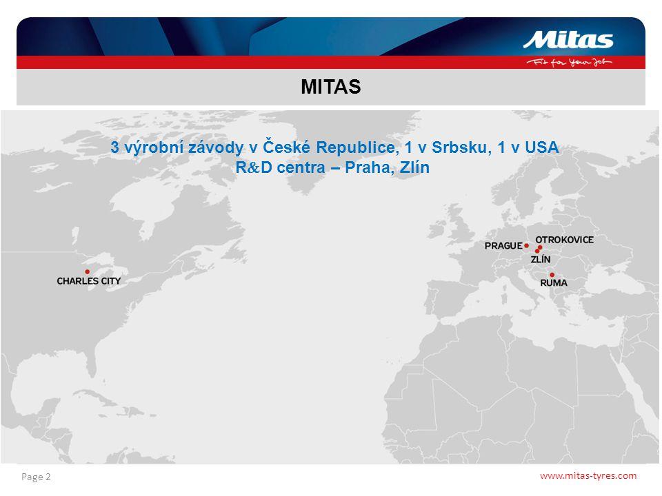 3 výrobní závody v České Republice, 1 v Srbsku, 1 v USA