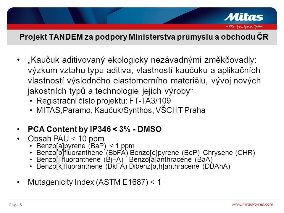 Projekt TANDEM za podpory Ministerstva průmyslu a obchodu ČR