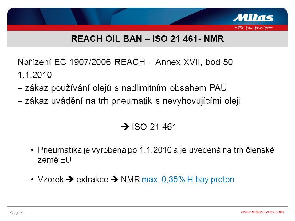 Nařízení EC 1907/2006 REACH – Annex XVII, bod 50 1.1.2010