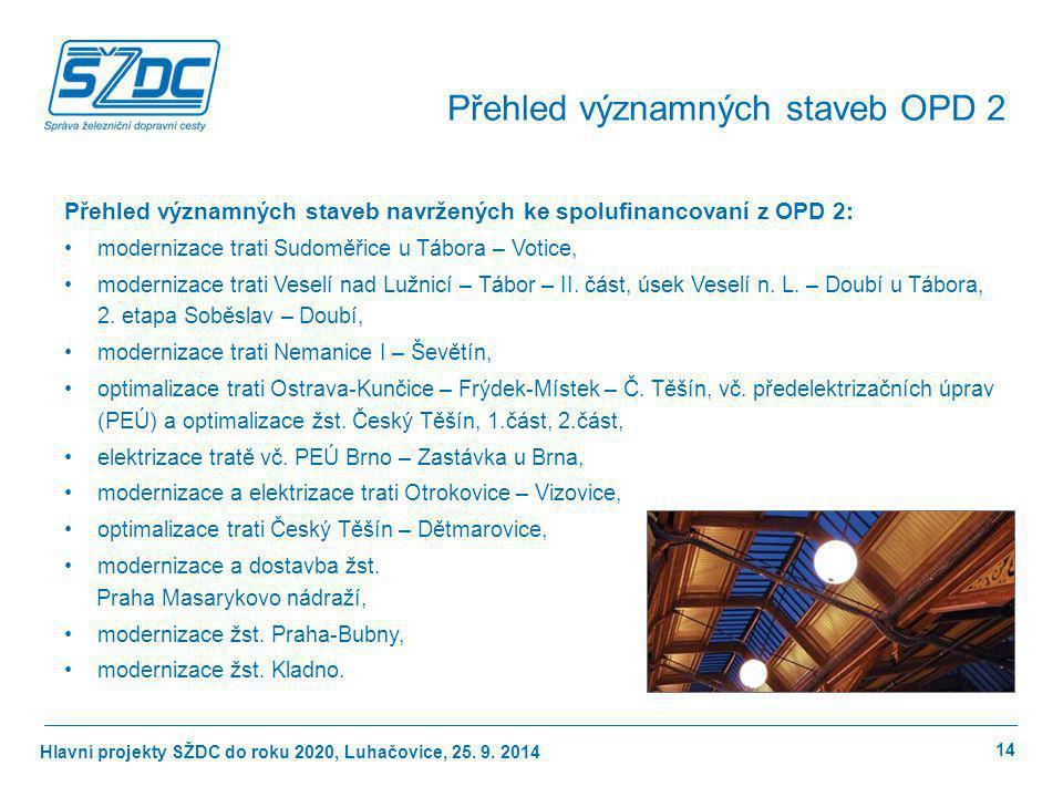 Přehled významných staveb OPD 2