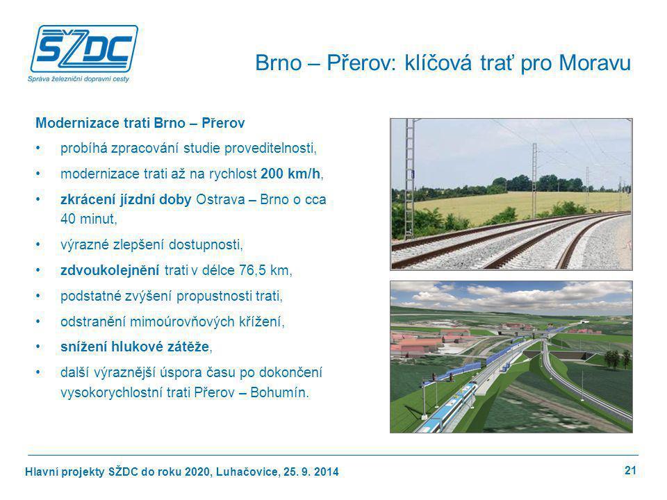 Brno – Přerov: klíčová trať pro Moravu