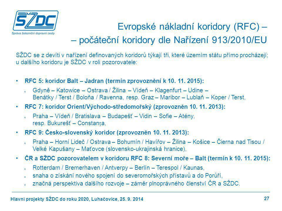 Evropské nákladní koridory (RFC) –