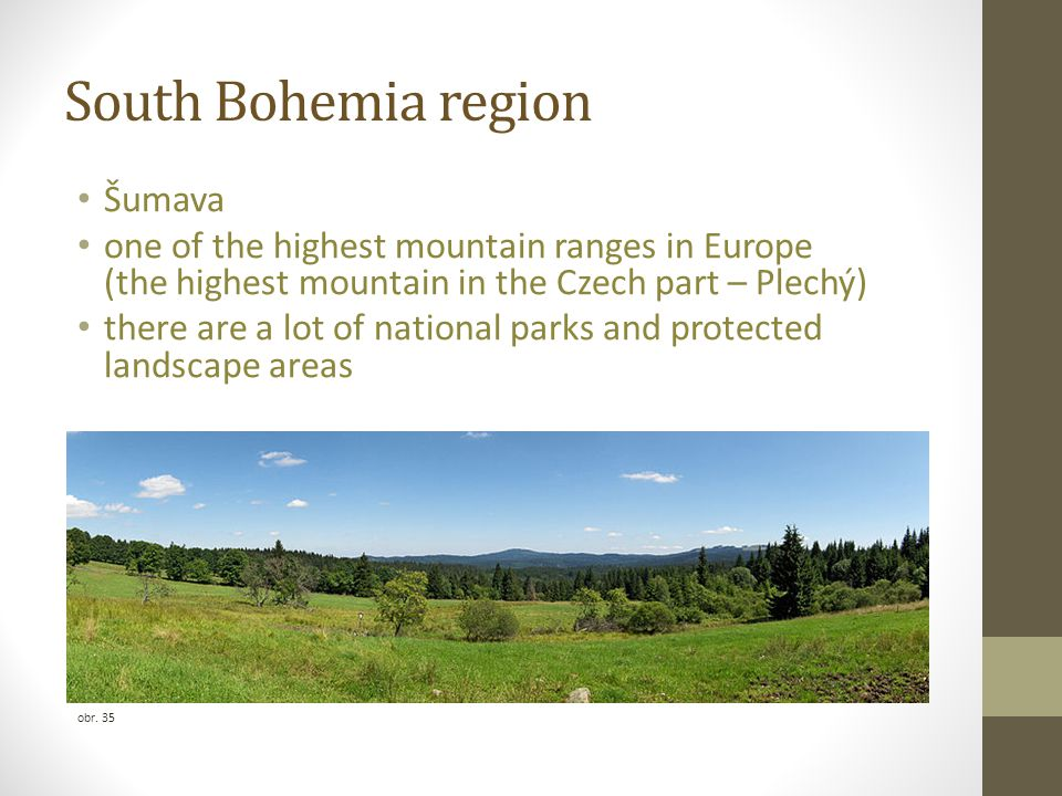 South Bohemia region Šumava