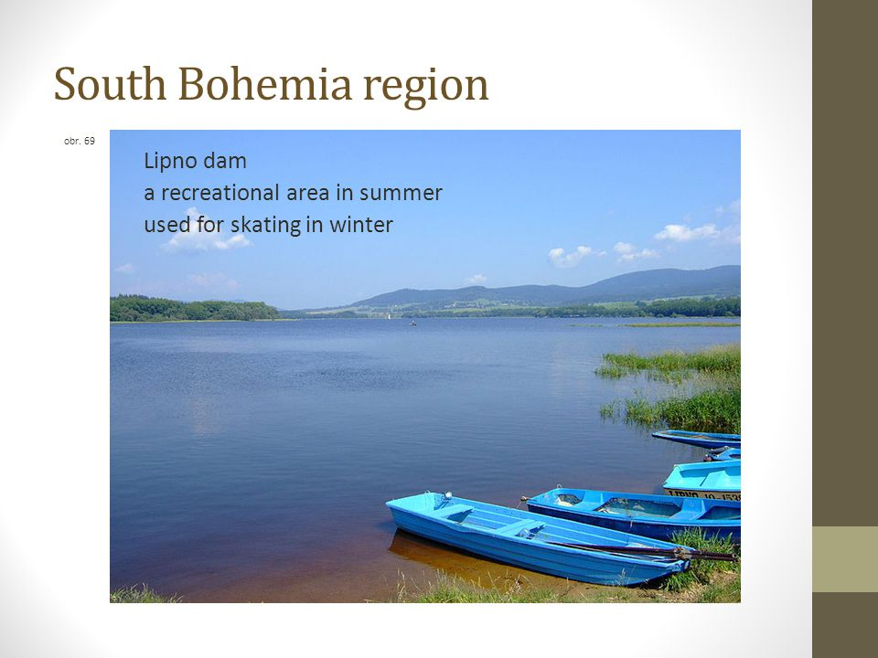South Bohemia region Lipno dam a recreational area in summer