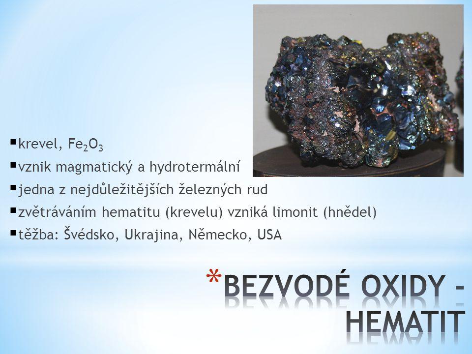 BEZVODÉ OXIDY - HEMATIT