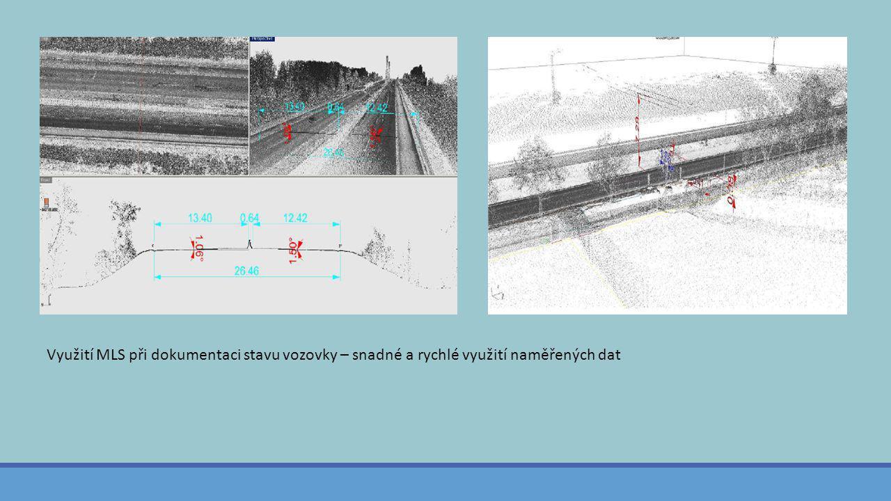 Využití MLS při dokumentaci stavu vozovky – snadné a rychlé využití naměřených dat
