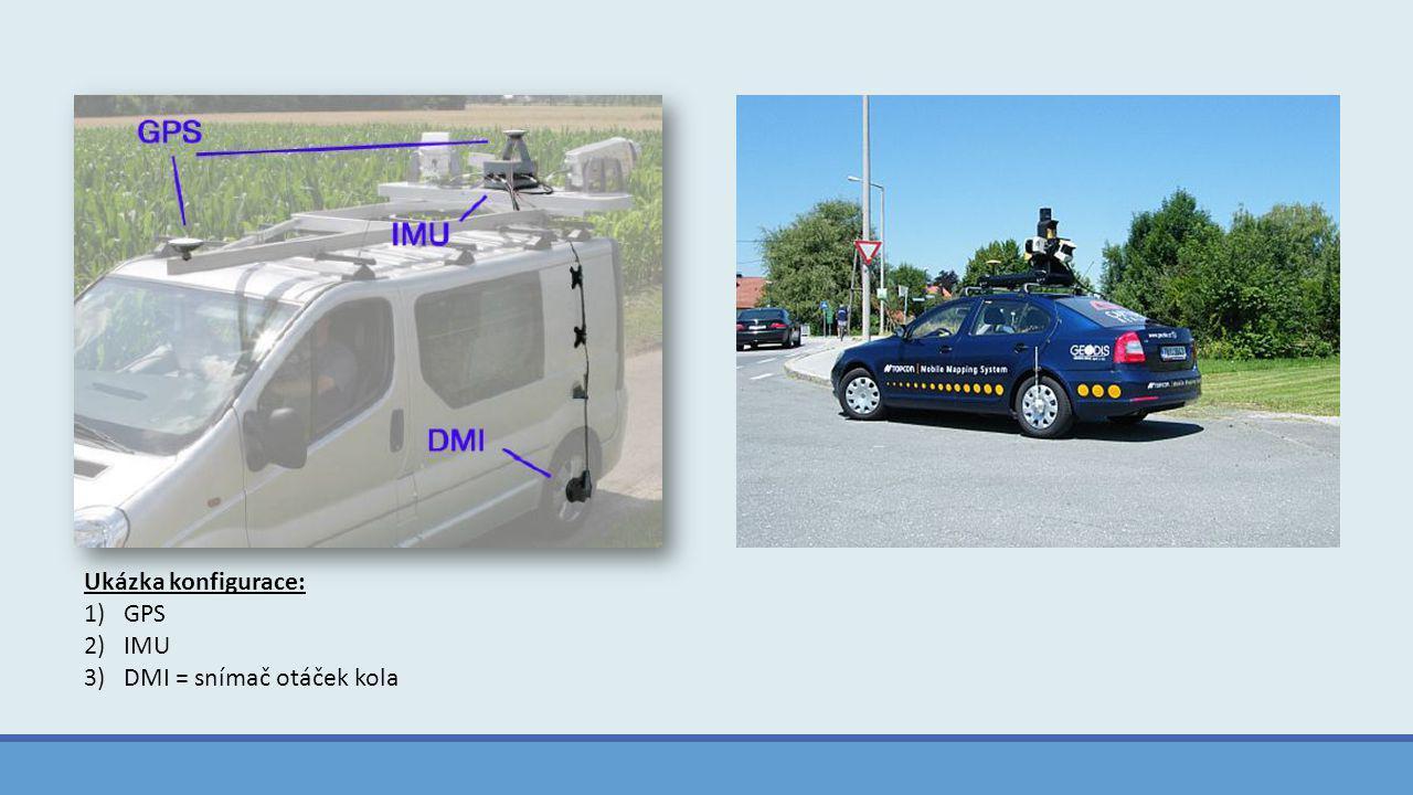 Ukázka konfigurace: GPS IMU DMI = snímač otáček kola