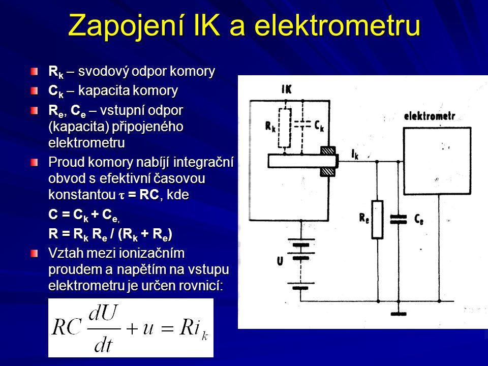 Zapojení IK a elektrometru