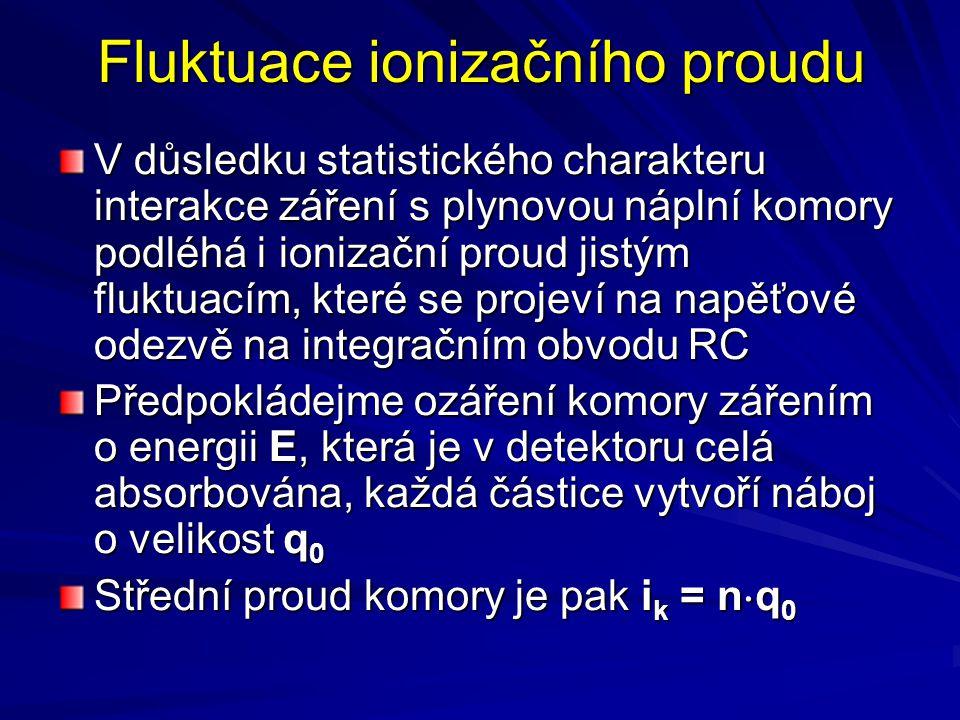 Fluktuace ionizačního proudu