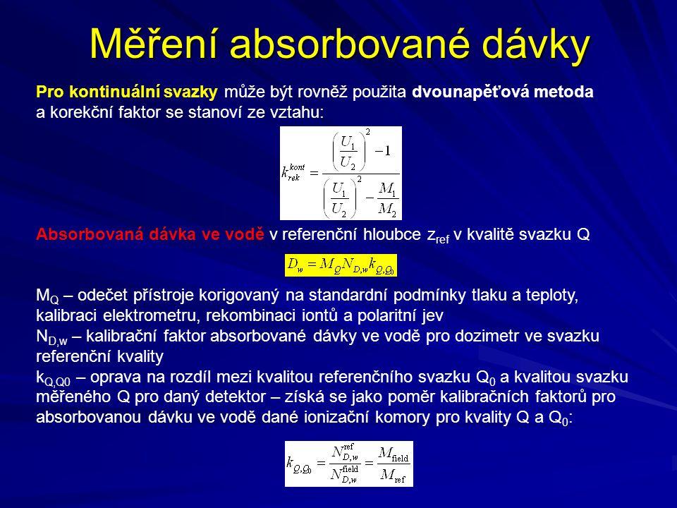 Měření absorbované dávky