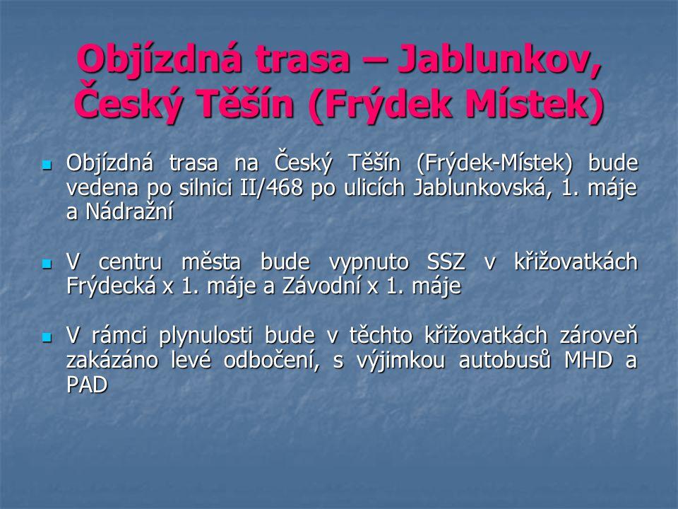 Objízdná trasa – Jablunkov, Český Těšín (Frýdek Místek)