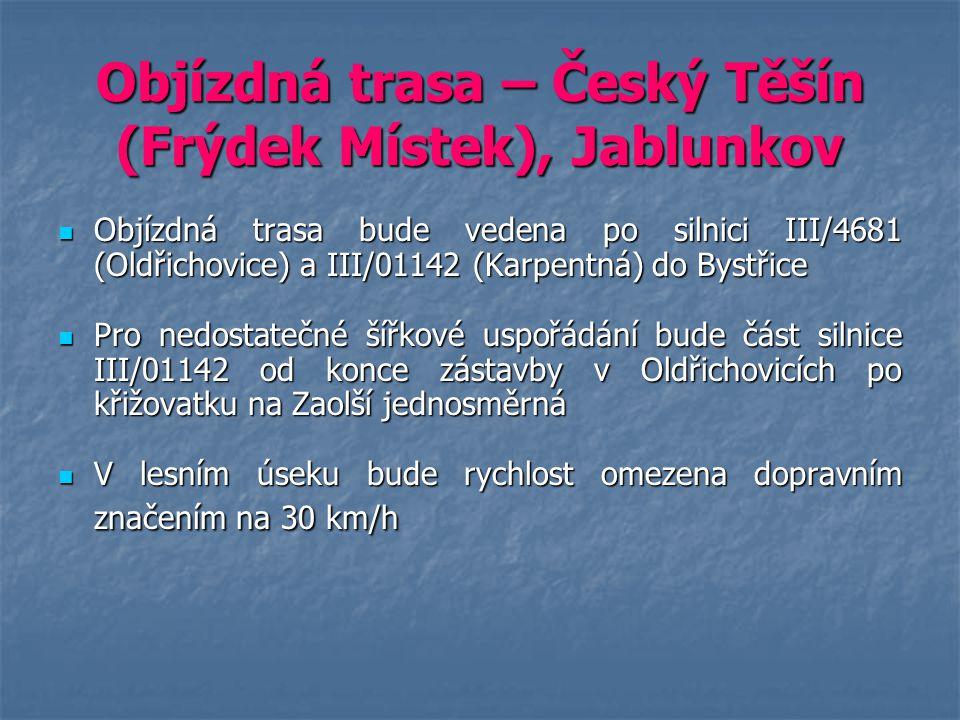Objízdná trasa – Český Těšín (Frýdek Místek), Jablunkov