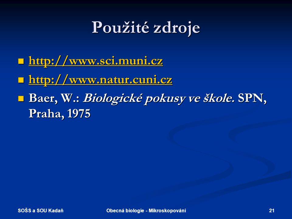 Obecná biologie - Mikroskopování