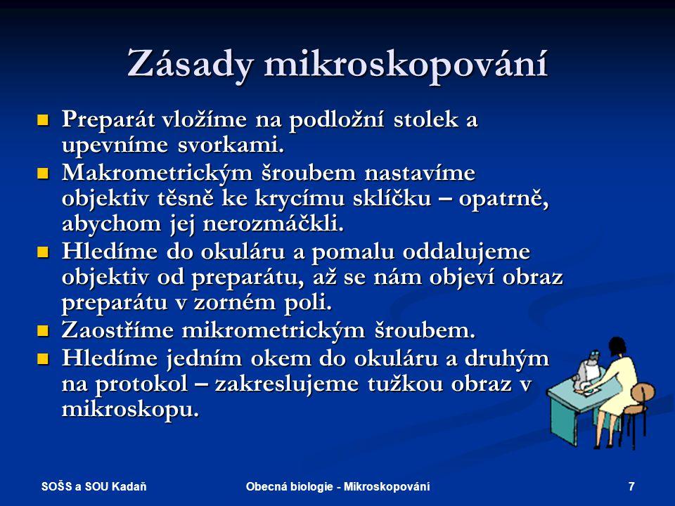 Zásady mikroskopování