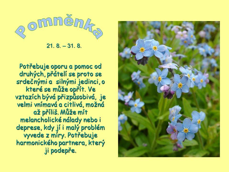 Pomněnka 21. 8. – 31. 8.