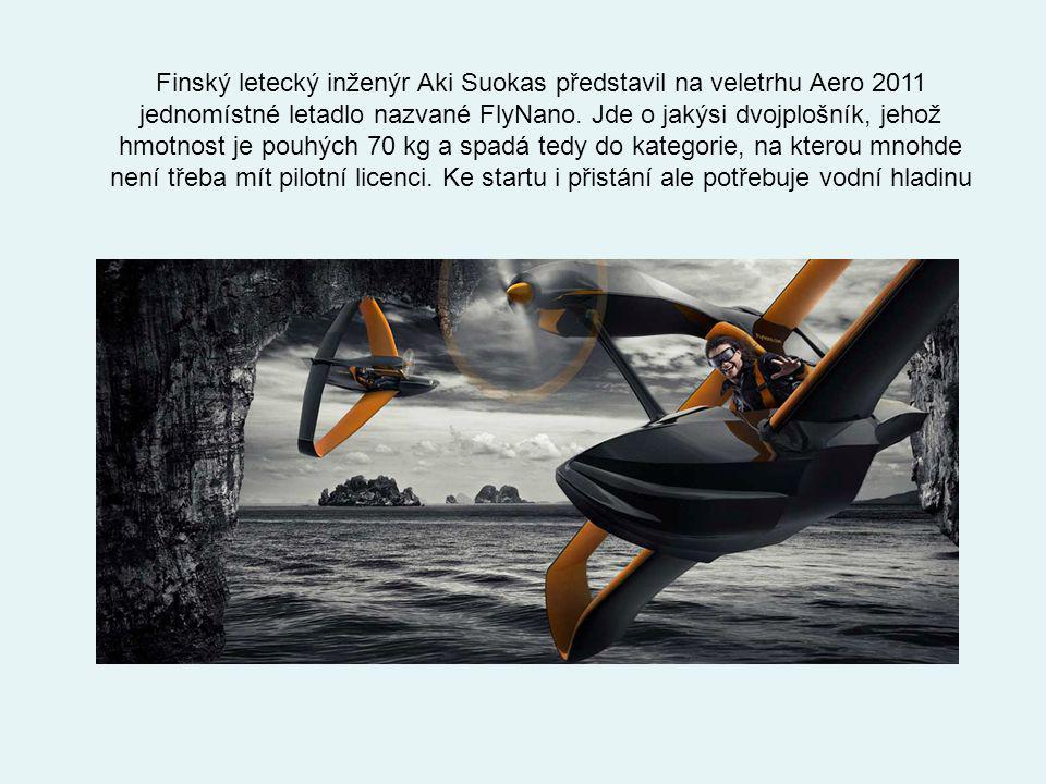 Finský letecký inženýr Aki Suokas představil na veletrhu Aero 2011 jednomístné letadlo nazvané FlyNano.