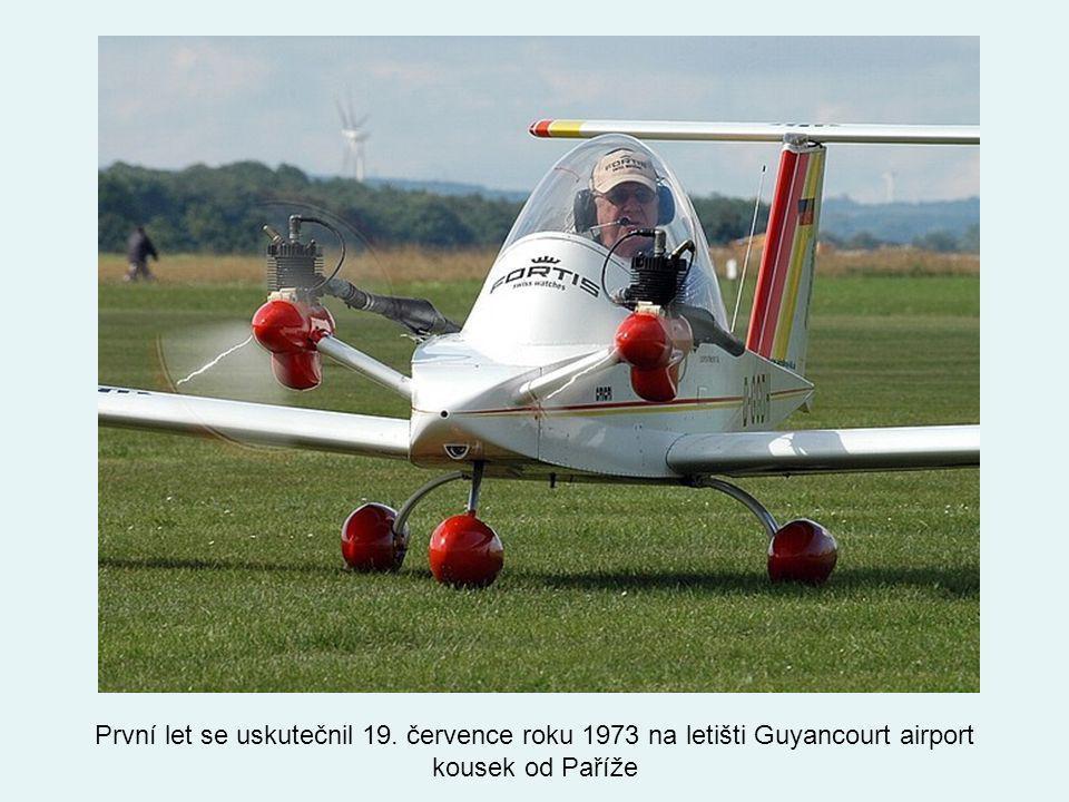 První let se uskutečnil 19