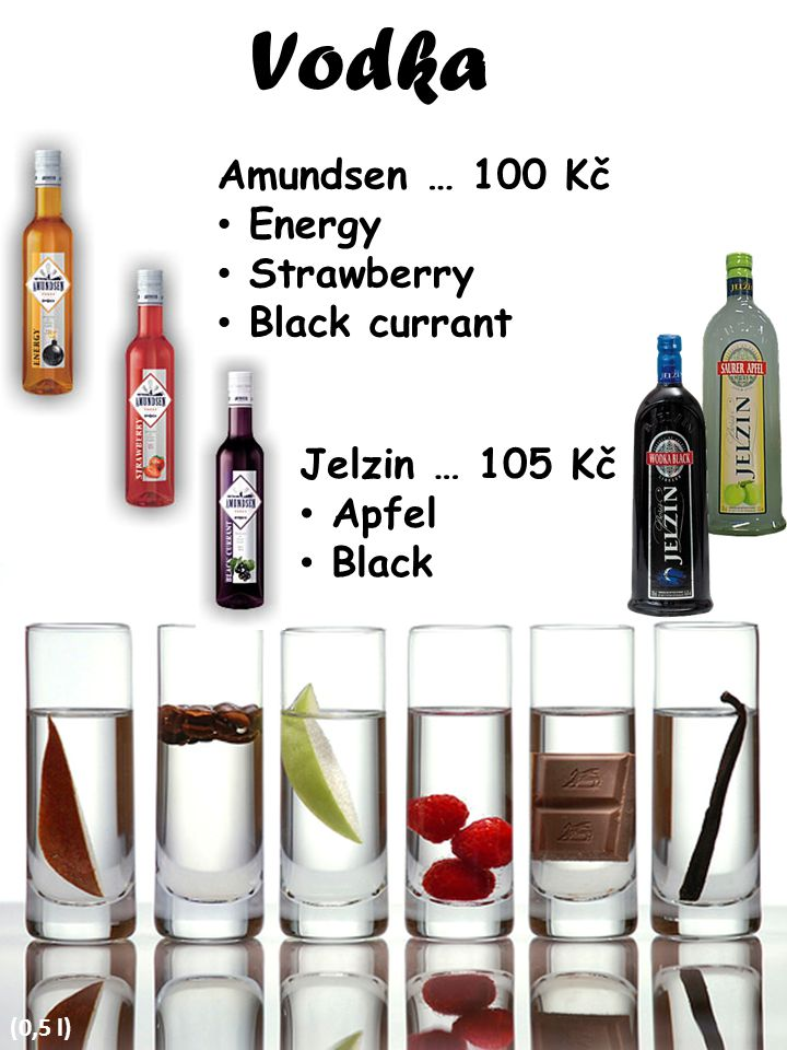 Vodka Amundsen … 100 Kč Energy Strawberry Black currant