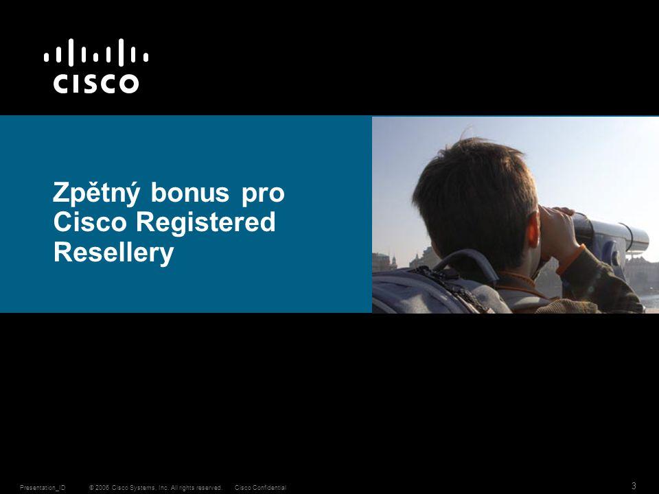 Zpětný bonus pro Cisco Registered Resellery