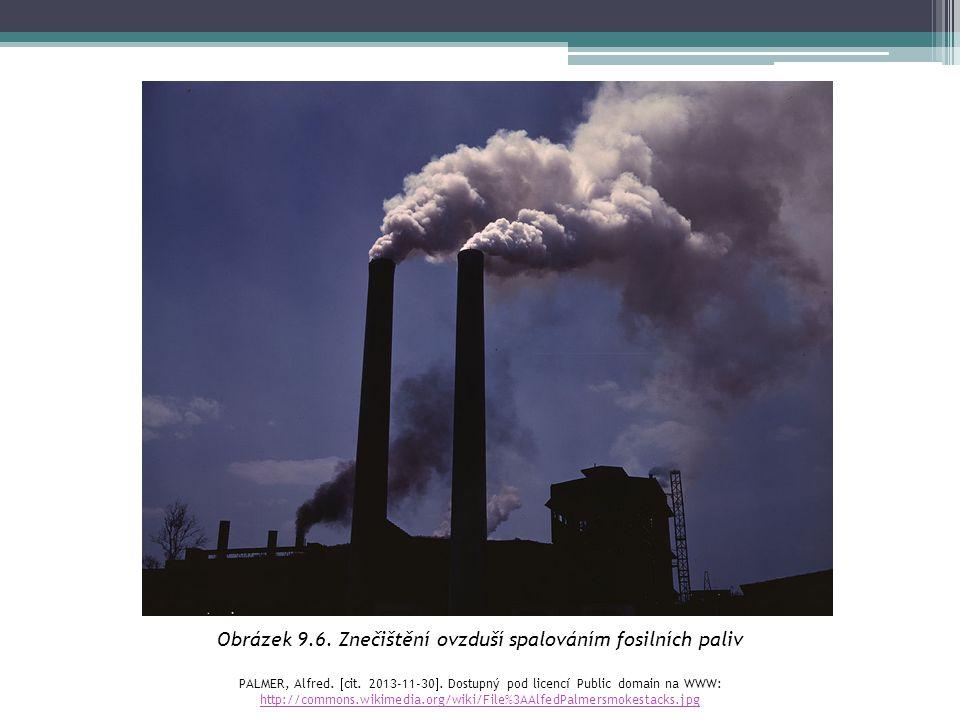 Obrázek 9.6. Znečištění ovzduší spalováním fosilních paliv