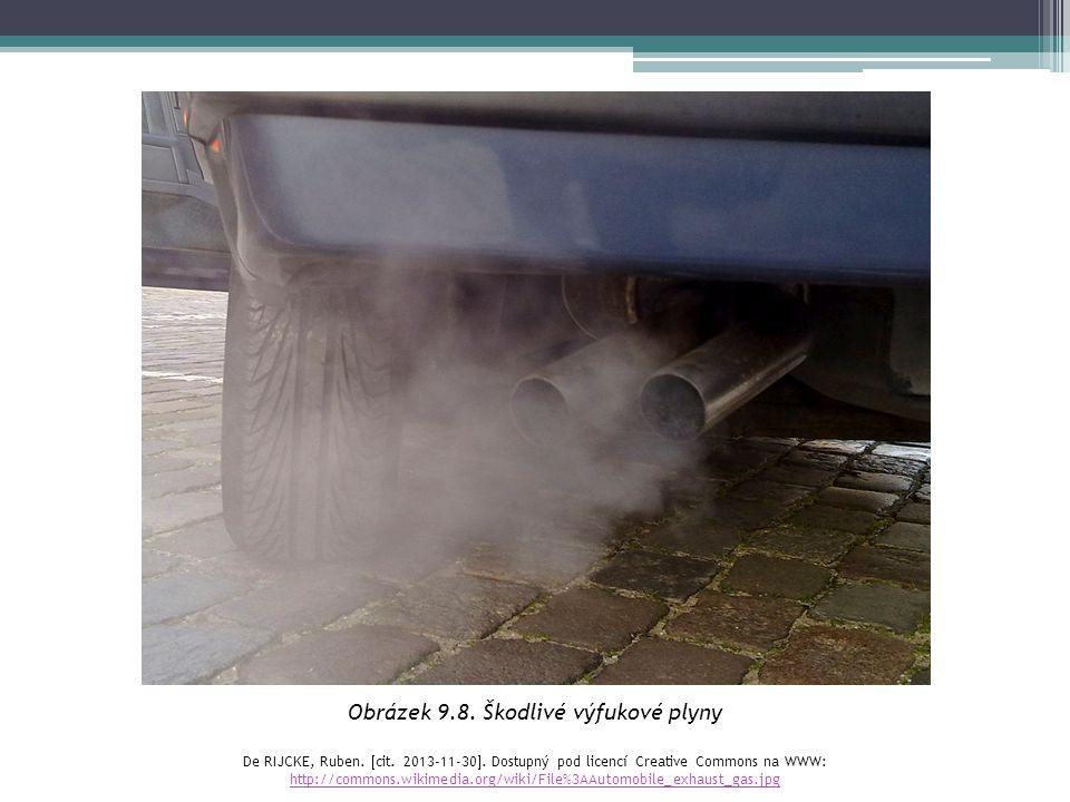 Obrázek 9.8. Škodlivé výfukové plyny