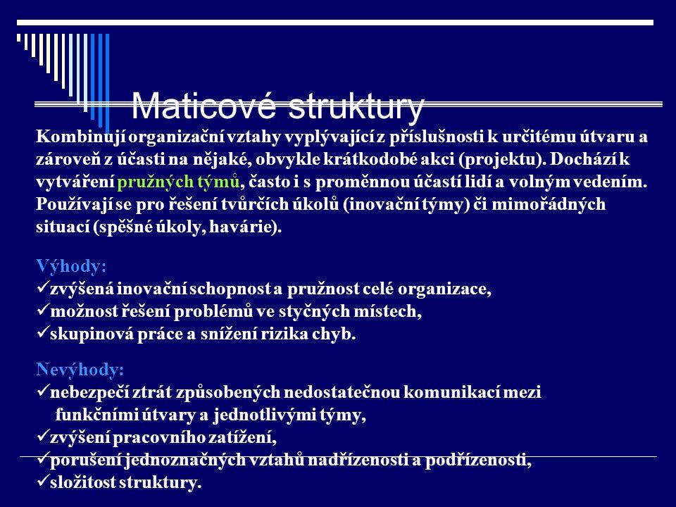 Maticové struktury
