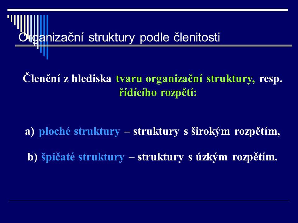 Organizační struktury podle členitosti