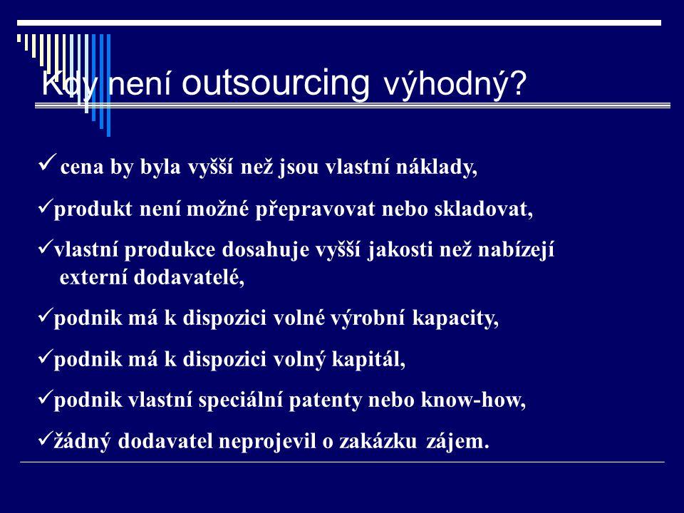 Kdy není outsourcing výhodný
