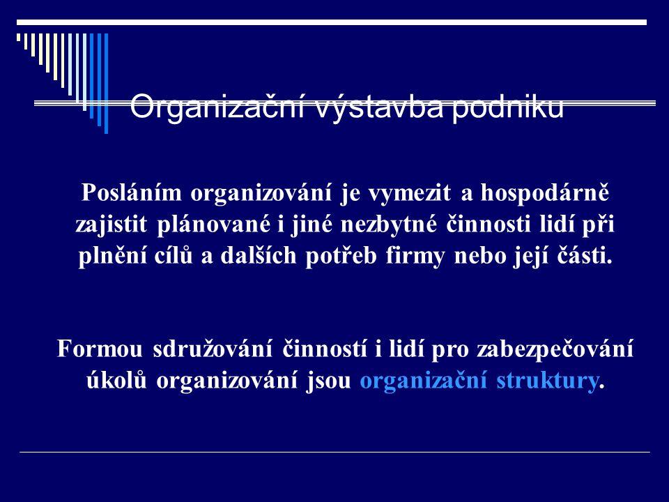Organizační výstavba podniku