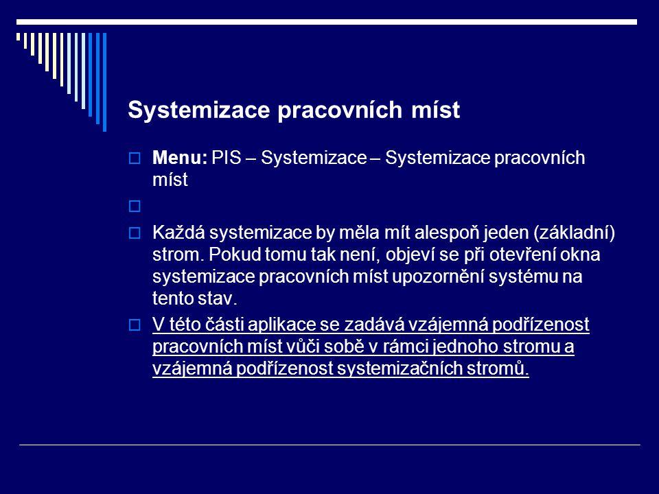 Systemizace pracovních míst