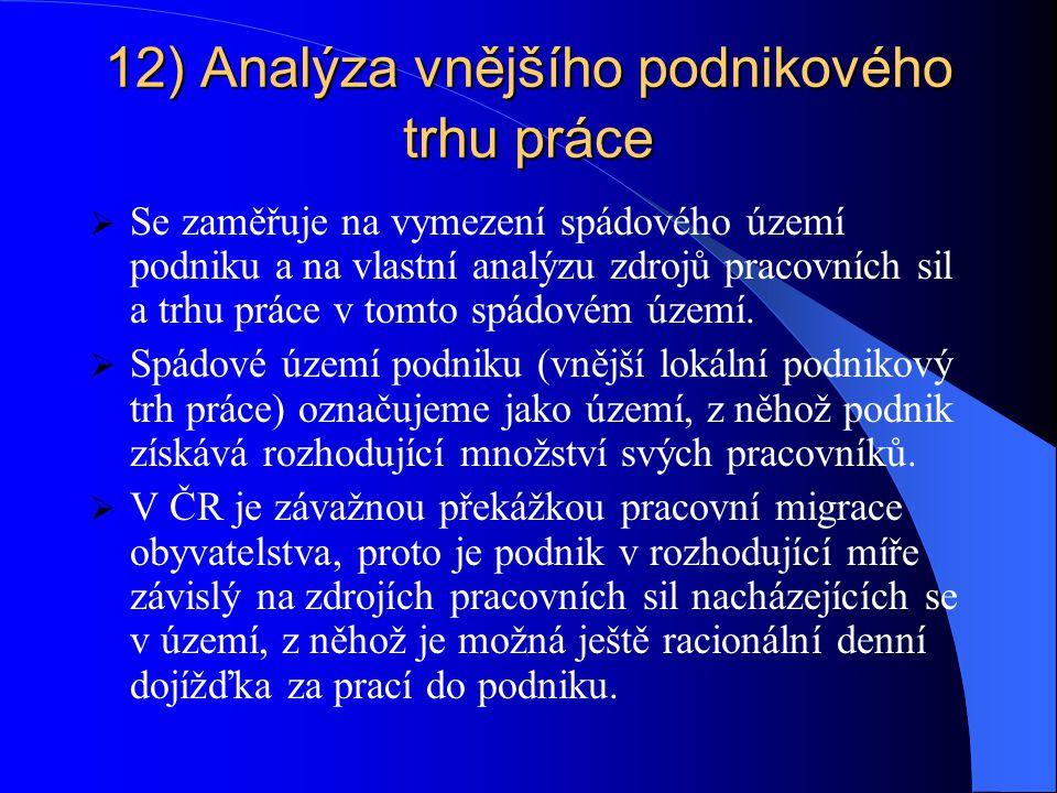 12) Analýza vnějšího podnikového trhu práce
