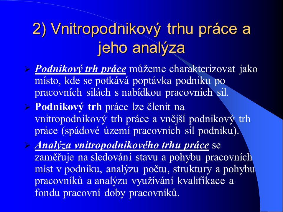 2) Vnitropodnikový trhu práce a jeho analýza