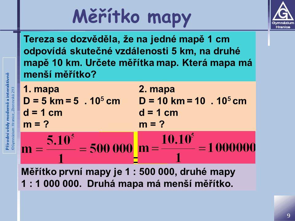 Měřítko mapy