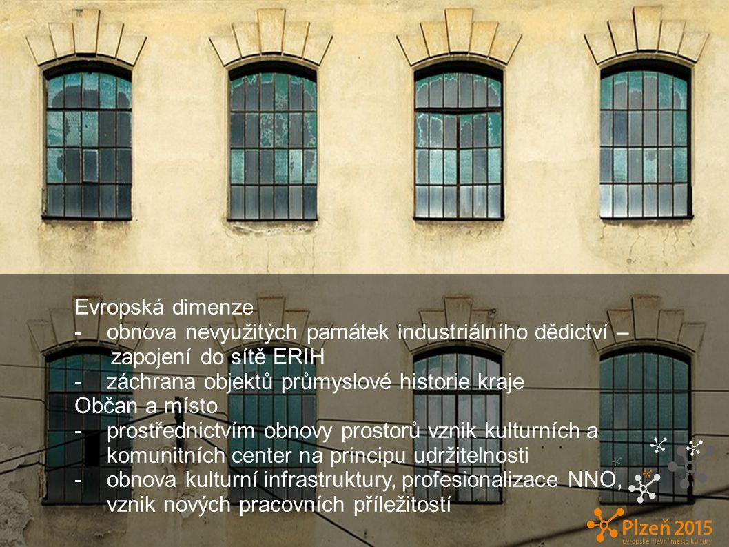 Evropská dimenze - obnova nevyužitých památek industriálního dědictví – zapojení do sítě ERIH.
