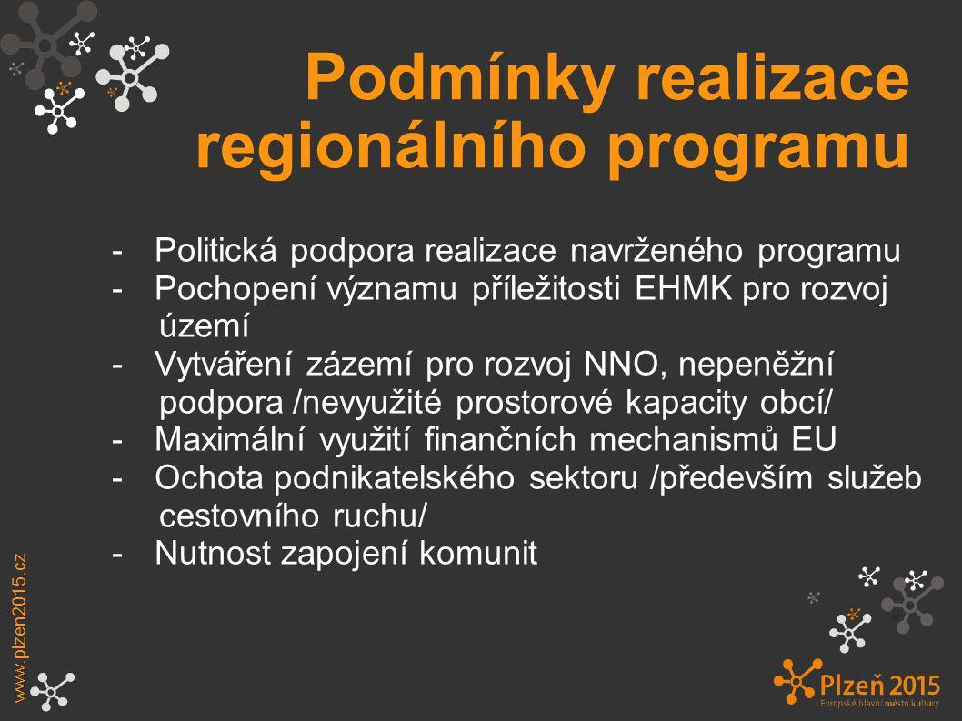 Podmínky realizace regionálního programu