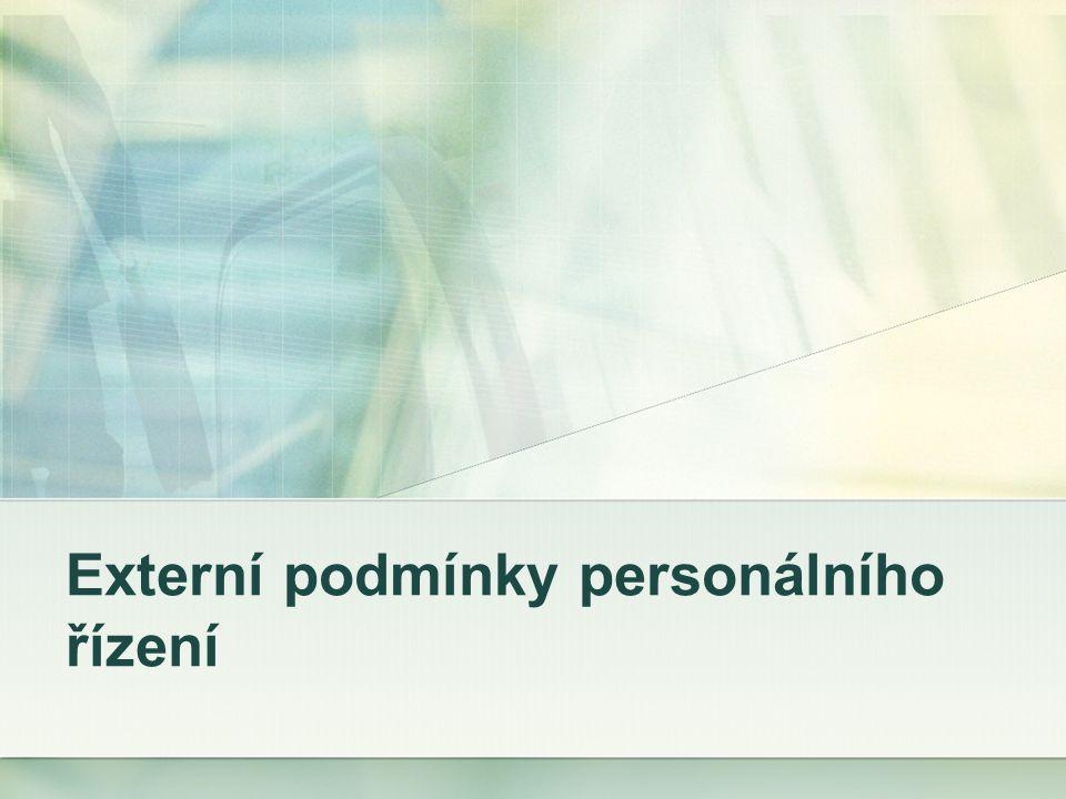 Externí podmínky personálního řízení