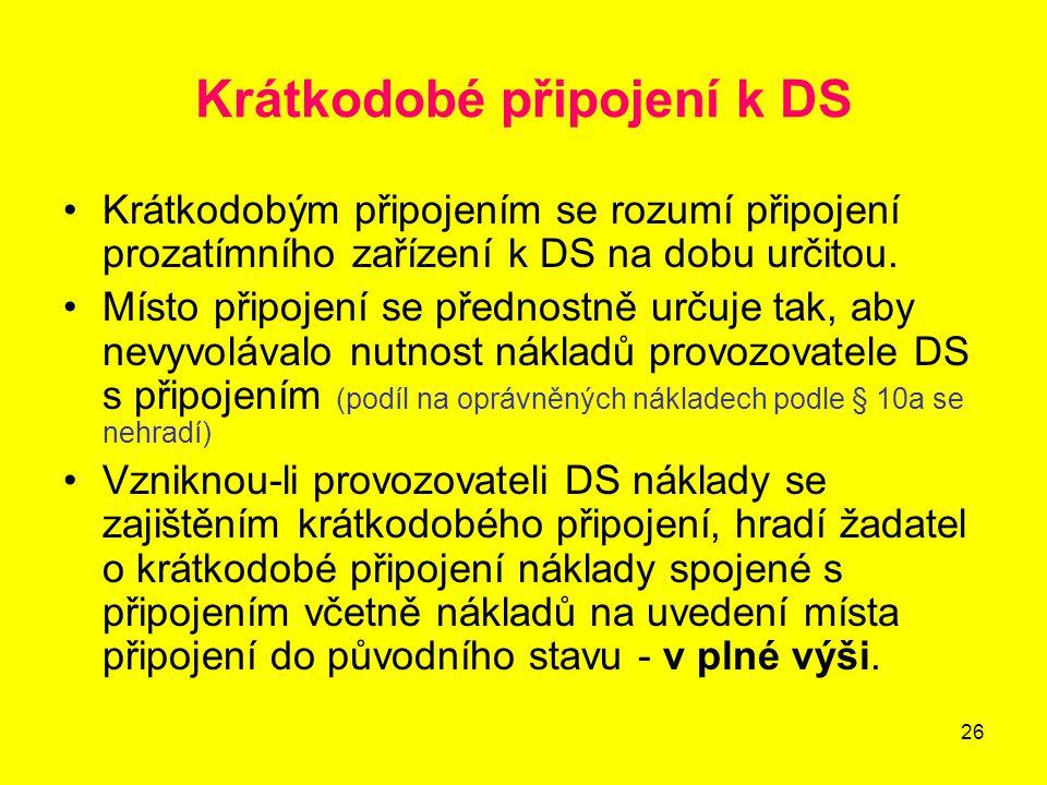 Krátkodobé připojení k DS
