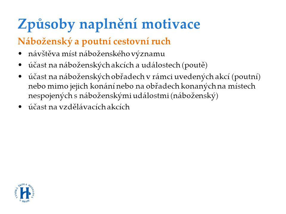 Způsoby naplnění motivace