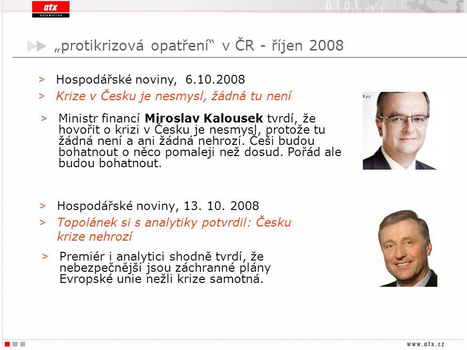 """""""protikrizová opatření v ČR - říjen 2008"""