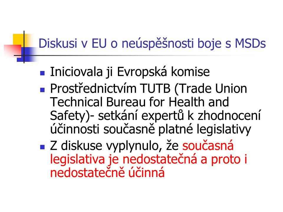 Diskusi v EU o neúspěšnosti boje s MSDs